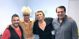 "Murray SawChuck, Douglas ""Lefty"" Leferovich and Niels Sayers Visit ""Hans Klok: The World' Fastest Magician"""