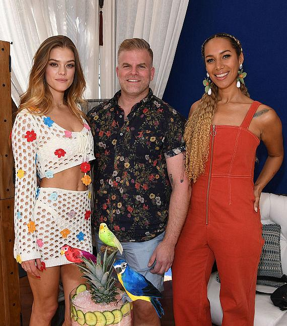 Nina Agdal, Leo Robitschek and Leona Lewis at JEMAA - The NoMad Pool Party