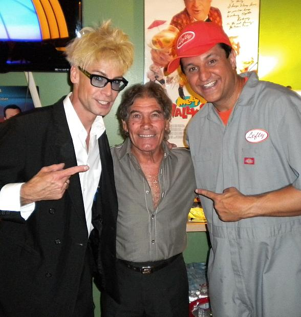 Murray SawChuck, Nino Frediani, Lefty backstage at MURRAY Celebrity Magician