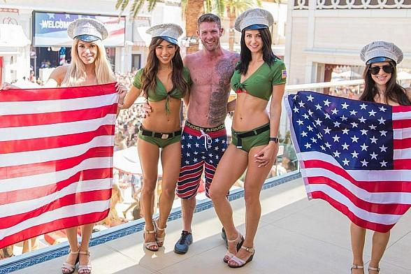 Noah Galloway Parties at Encore Beach Club and Intrigue Nightclub at Wynn Las Vegas