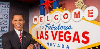 President Obama Wax Figure Spotted Celebrating Four More Years in Office at Madame Tussauds Las Vegas