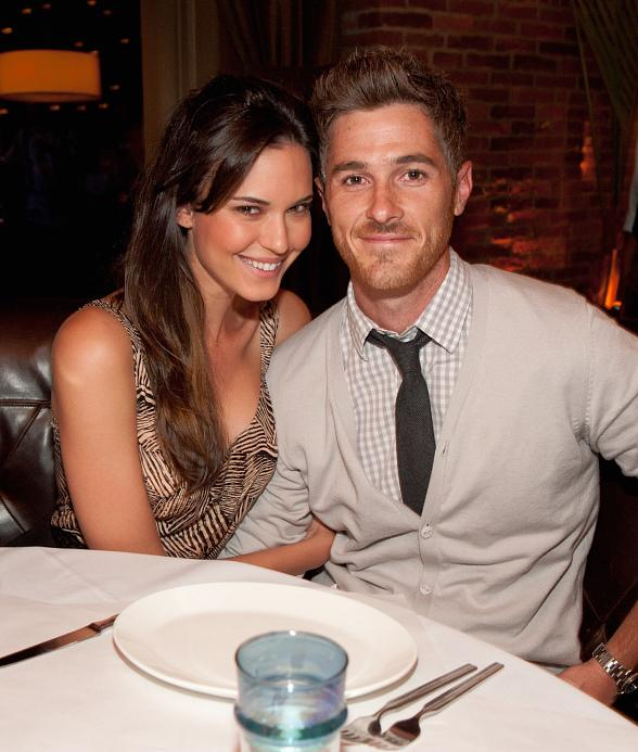 Odette Yustman and Dave Annable at LAVO