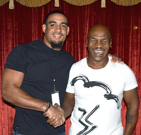 """NFL stars Olivier Vernon and Sam Brenner attend """"Mike Tyson Undisputed Truth"""" at MGM Grand"""
