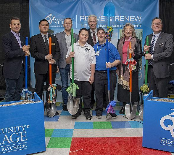 Opportunity Village Holds Special Groundbreaking Ceremony at West Oakey Campus