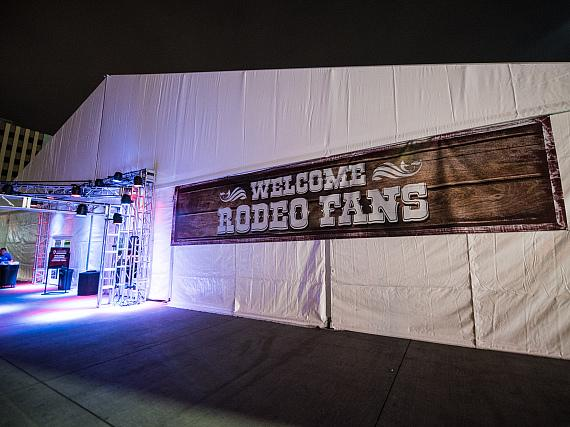Outside the DLVEC for the NFR Celebration Week
