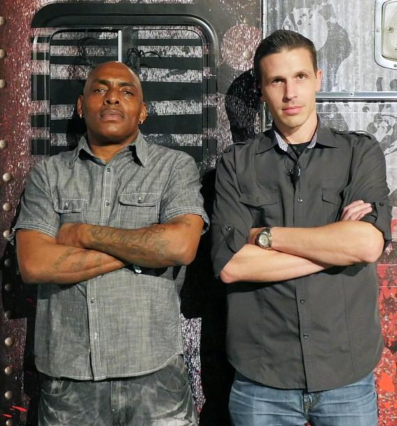 Coolio with Fright Dome owner Jason Egan
