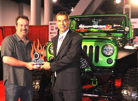 SEMA Award presented to Alan Batey of General Motors for the Chevrolet Camaro as Hottest Car
