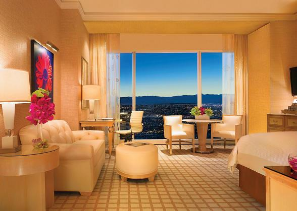 The newly renovated Deluxe Resort King at Wynn Las Vegas
