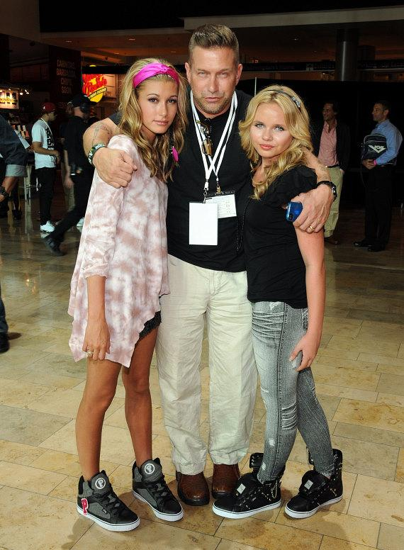 Hailey Baldwin, Stephen Baldwin and Alli Simpson at Pastry Shoes fashion show in Las Vegas