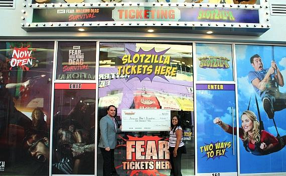 Fremont Street Experience Donates $10,000 to Support the American Heart Association