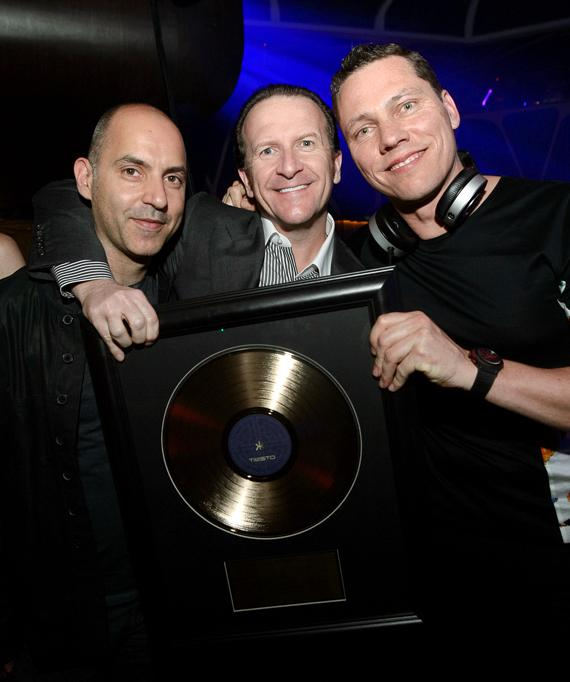 Paul Morrisa and Neil Moffitt with Tiesto at Hakkasan Las Vegas