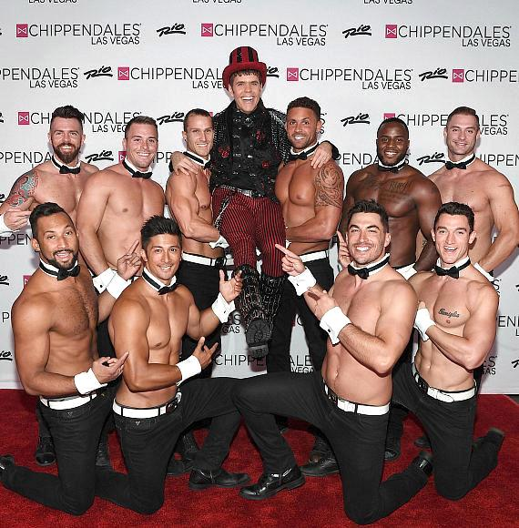 Perez Gets Lifted by Chippendales
