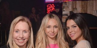"""""""The Bachelor"""" star Corinne Olympios celebrates St. Patrick's Day at Hyde Bellagio in Las Vegas"""