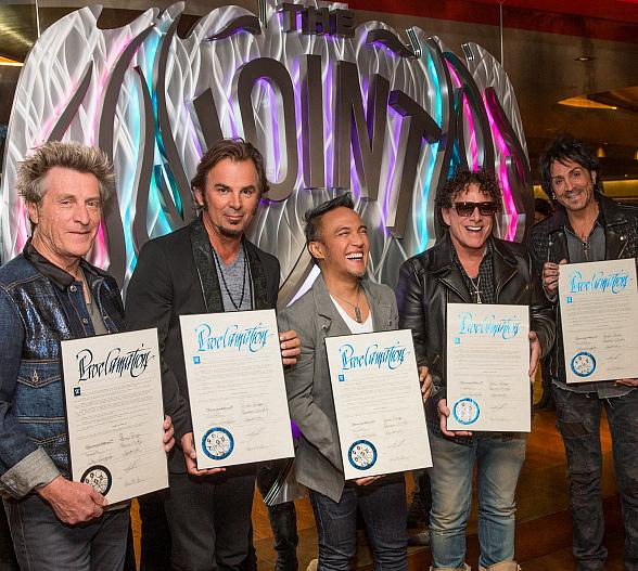 """Clark County welcomes Journey with """"Open Arms"""" by declaring April 29, 2015 as Journey Las Vegas Day"""