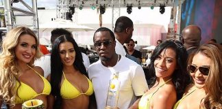 Puff Daddy Hosts Sports Illustrated Fight Weekend Party at Foxtail Pool Club