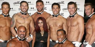 Snooki attends Chippendales at Rio All-Suite Hotel & Casino