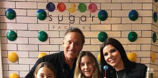"""The Real Housewives of Orange County"" stars Terry & Heather Dubrow visit the new Sugar Factory in Las Vegas"