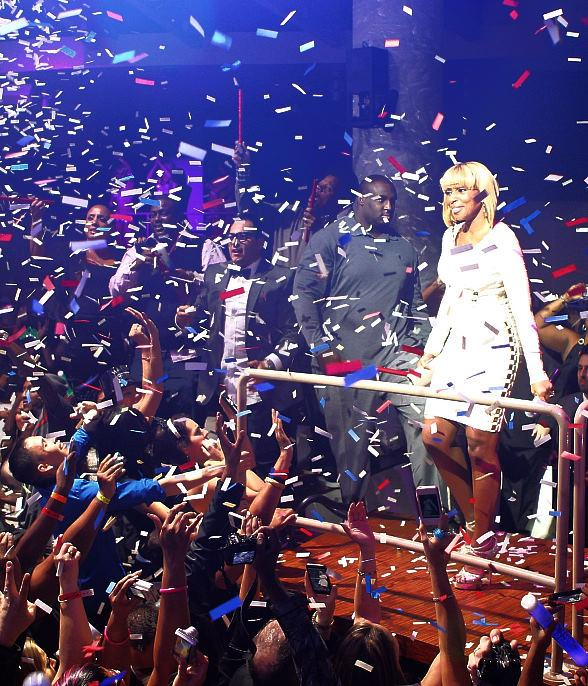 Mary J Blige performs at RPM Nightclub on New Year's Eve