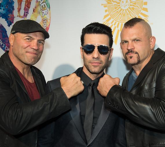 """Randy Couture, Chuck Liddell and Criss Angel on the Gold Carpet at Criss Angel """"HELP"""""""