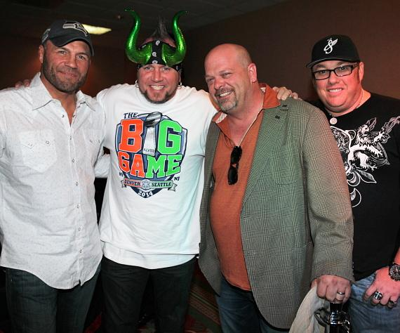 Randy Couture and Horny Mike with Rick Harrison and Michael Austin
