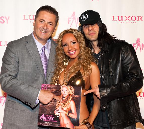 Luxor President Felix Rappaport, Lorena Peril and Criss Angel