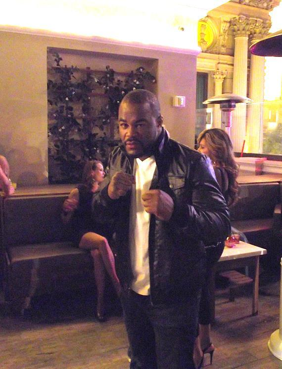 Rashad Evans at Chateau Nightclub & Gardens at Paris Las Vegas