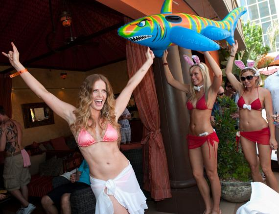 Rebecca Mader at TAO Beach