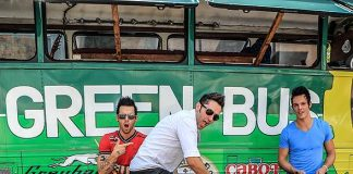 Recycled Percussion Perform at Dartmouth's Big Green Bus