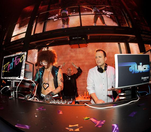 Redfoo & DJ Vice at Party Rock Mondays at Marquee Nightclub