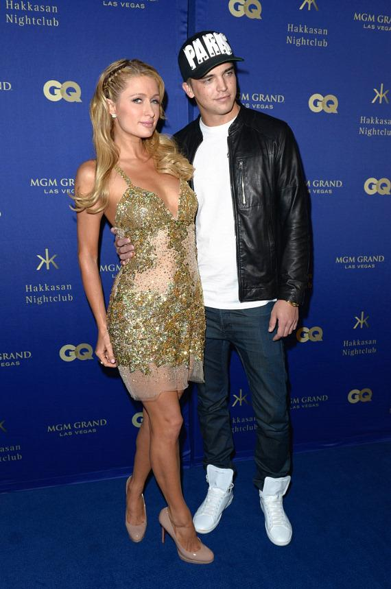 Paris Hilton and River Viiperi at GQ Grand Opening party at Hakkasan Las Vegas