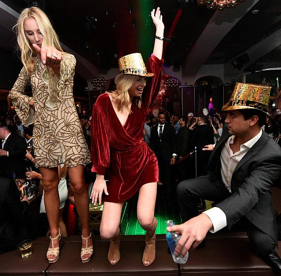 Revelers danced into the early morning hours of 2018 during Hyde Bellagio's NYE festivities