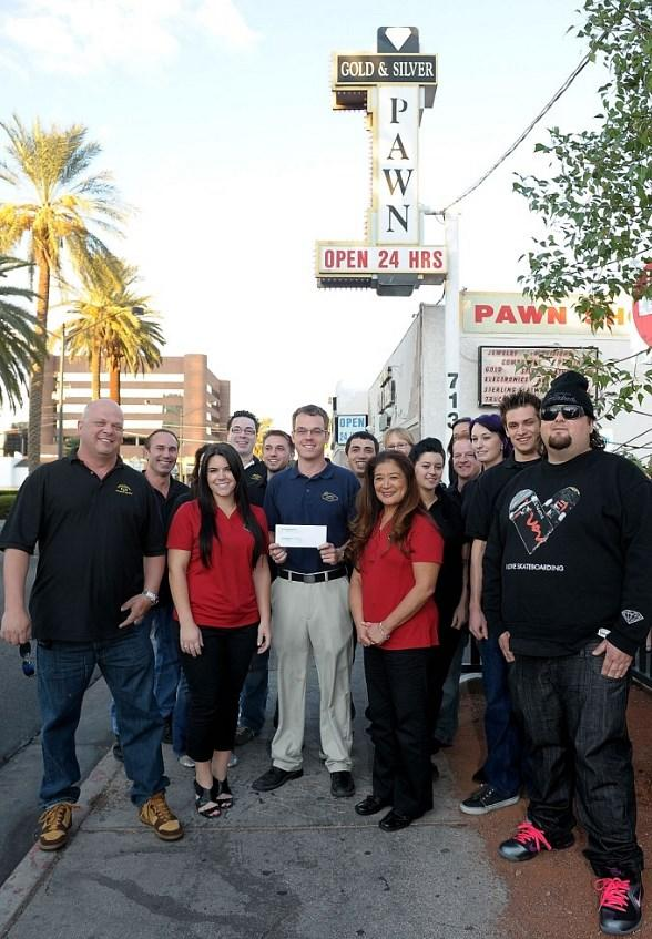 Pawn Stars including Rick Harrison, Stephanie Maes, Mike Siegel, Donna Millwood, Austin Chumlee Russell