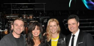 Rick Schroeder and wife Andrea at Donny & Marie at Flamingo Las Vegas