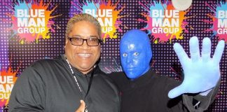 WWE/TNA Pro Wrestler Rikishi attends Blue Man Group Las Vegas