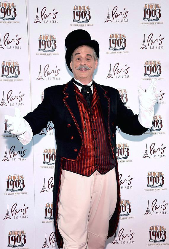 Ringmaster Willy Whipsnade at Opening Night of CIRCUS 1903 at Paris Las Vegas