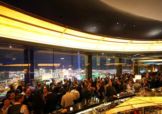 Guests at Skyfall Lounge during the Grand Opening Event