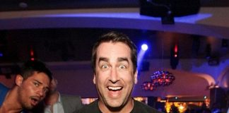 Rob Riggle parties at Hyde Bellagio, Las Vegas