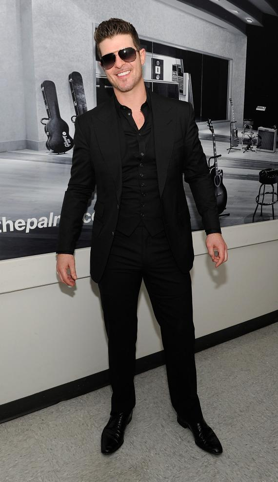 Robin Thicke backstage at the Pearl Concert Theater at Palms Casino Resort in Las Vegas