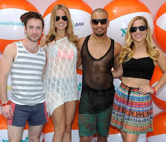 Rock of Ages cast at Xposed! in the Tropicana Beach Club at The New Tropicana Las Vegas March 29,2014_Credit David Becker_WireImage-588