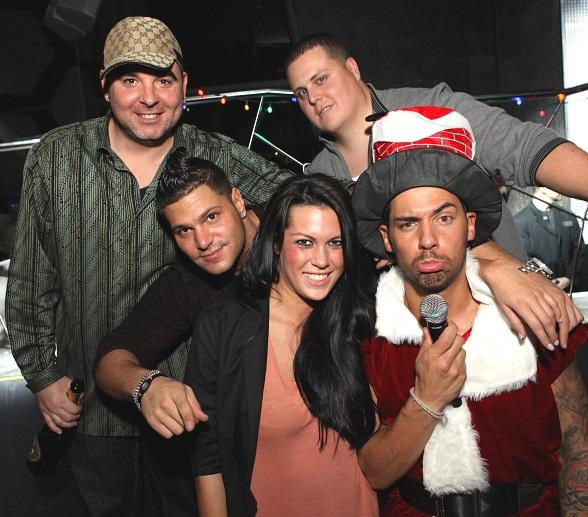 Ronnie from MTV's Jersey Shore and friends at Moon Nightclub