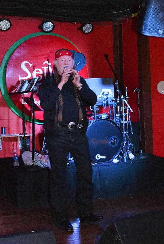 Roy Hammock performs as Willie Nelson at Señor Frog's Las Vegas