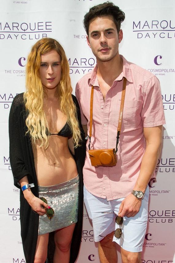 Rumer Willis and Jayson Blair at Marquee Dayclub
