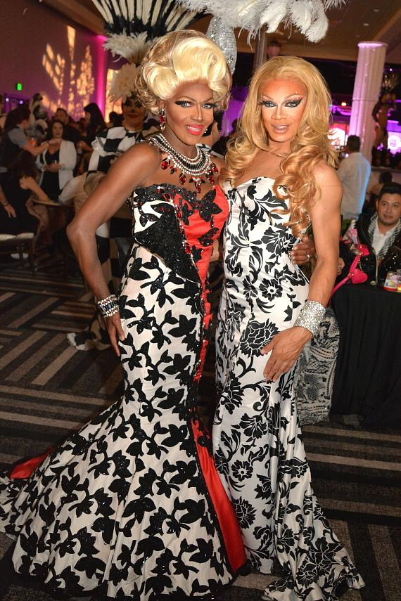 """Cast of FANTASY, Chippendales, Frank Marino's Divas, Penn & Teller, Michelle Johnson and more at Aid for AIDS of Nevada 31st Annual """"Black & White Party"""" at Hard Rock Hotel Las Vegas"""