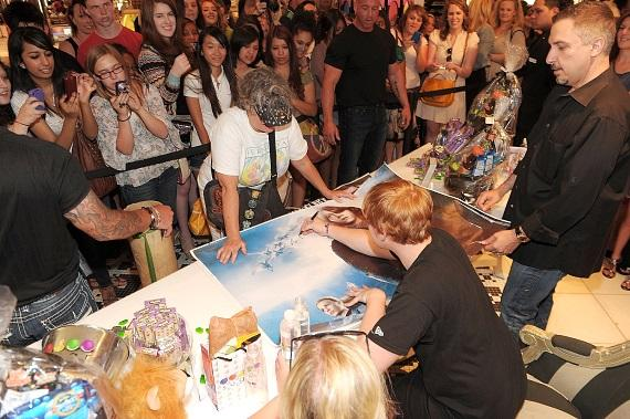 Rupert Grint signs autographs and meets fans at Sugar Factory in Las Vegas