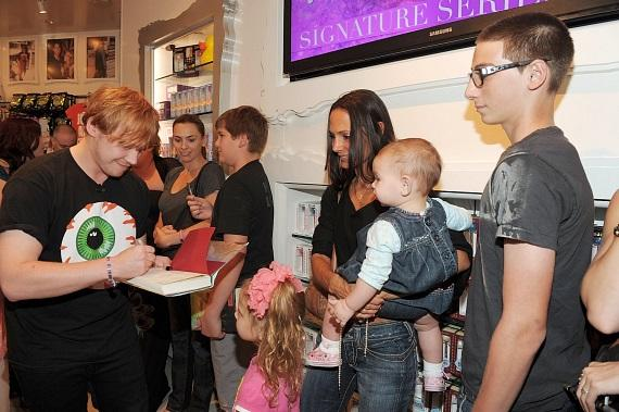 Holly Madison and Rupert Grint at Sugar Factory in Las Vegas