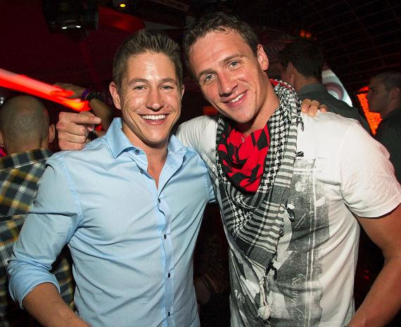 Ryan Basford and Ryan Lochte at LAVO
