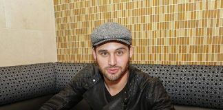 """""""Pretty Little Liars"""" Actor Ryan Guzman Dines at N9NE Steakhouse at The Palms in Las Vegas"""