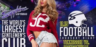 Sapphire to host Tennessee Titans vs. Jacksonville Jaguars Football on Thursday, Nov. 19 with $1 Halftime Dances