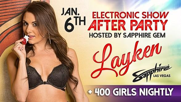 """Sapphire Gem """"Layken"""" to Host an Electronics Show After Party at Sapphire, The World's Largest Gentlemen's Club, January 6"""