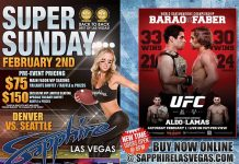 A Super Weekend at Sapphire: UFC 169 on Saturday, Feb. 1 and Super Sunday, Feb. 2!